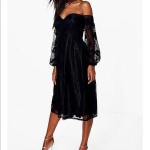 Black off the shoulder dress NWT